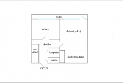 K pronájmu byt 2+kk, 51 m2, lodžie 6 m2, klidná část města, volný IHNED